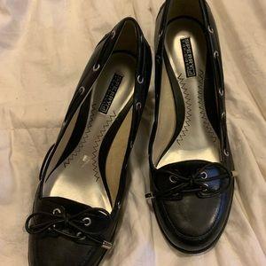 Black Sperry Heels size 7